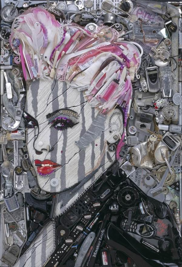 CELEBRITY TRASH ART JASON MECIER pink