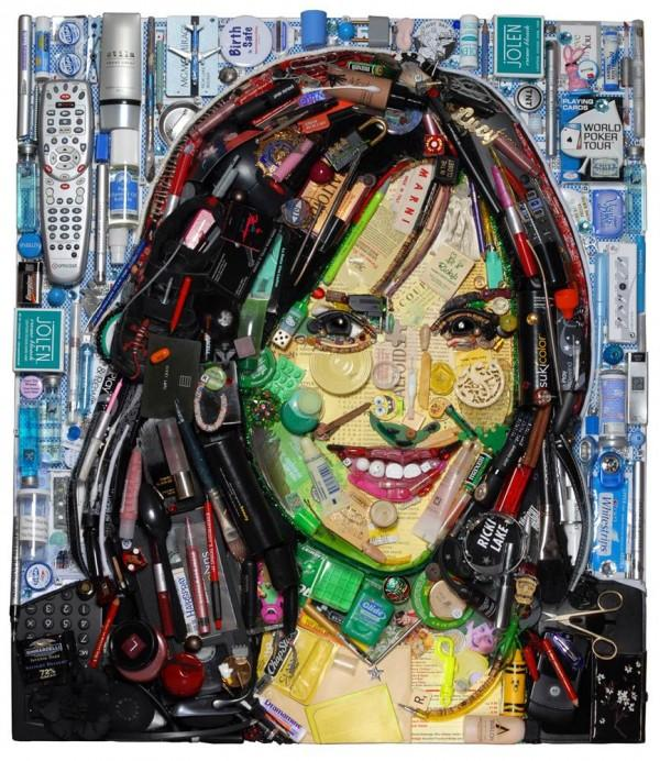 CELEBRITY TRASH ART JASON MECIER ricki lake