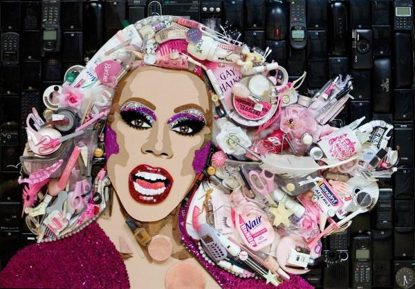 CELEBRITY TRASH ART JASON MECIER rupaul
