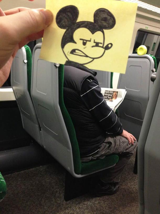 October Jones during a boring train journey 10