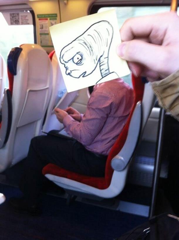 October Jones during a boring train journey 11