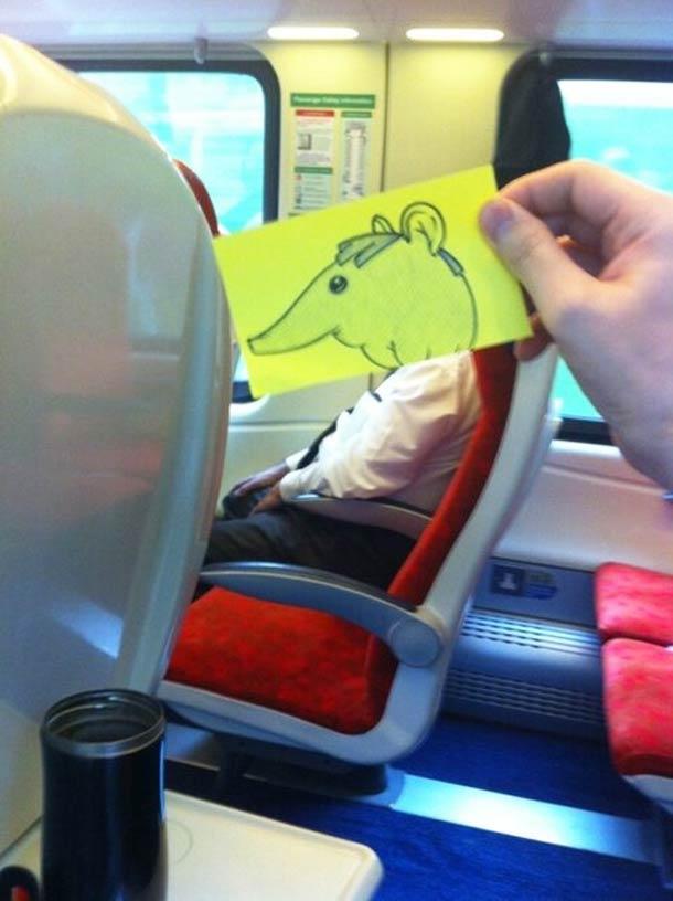 October Jones during a boring train journey 12