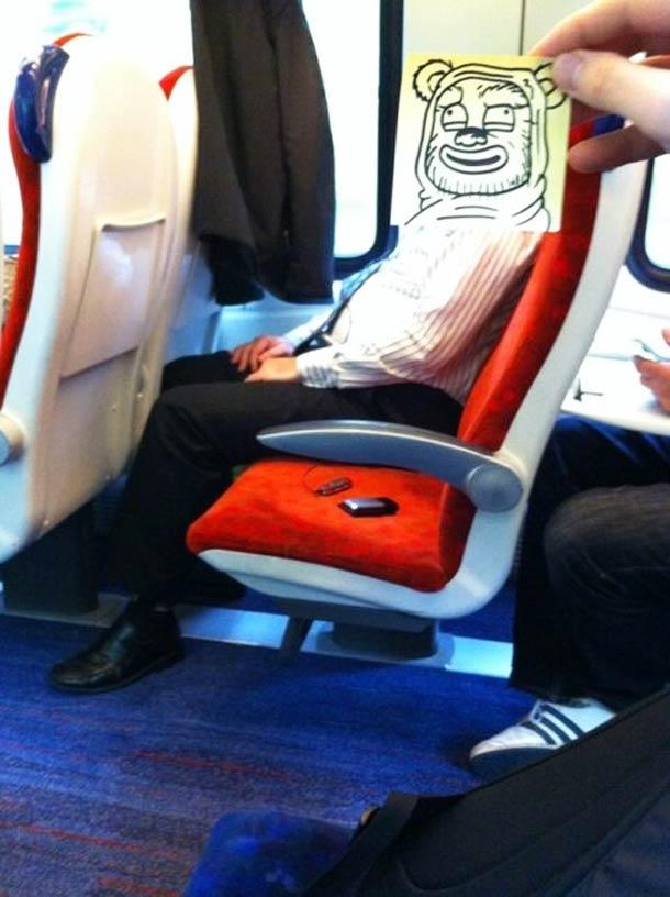 October Jones during a boring train journey 13