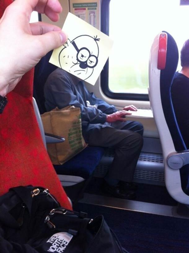 October Jones during a boring train journey 14