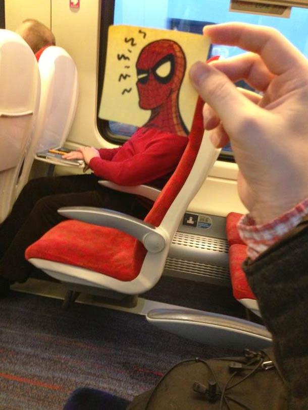 October Jones during a boring train journey 2