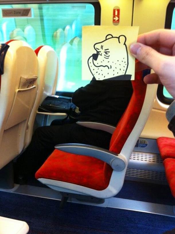 October Jones during a boring train journey 4