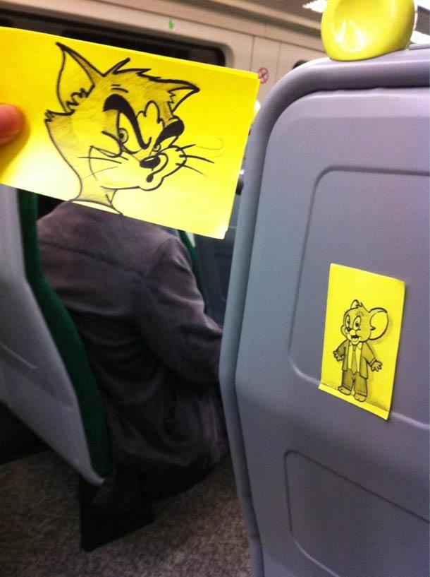 October Jones during a boring train journey 5