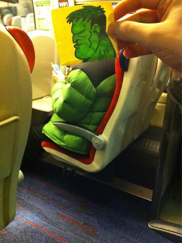 October Jones during a boring train journey 6