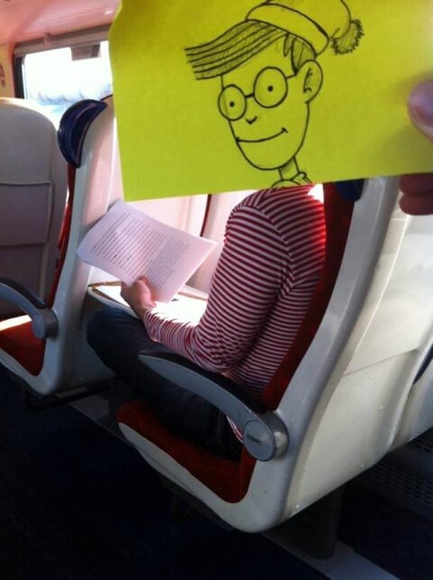 October Jones during a boring train journey 7