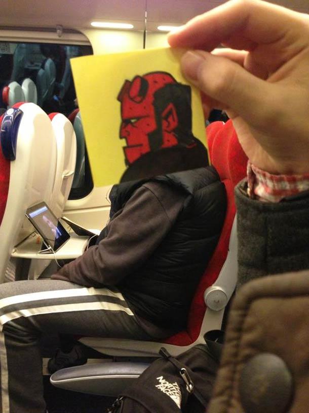 October Jones during a boring train journey 8