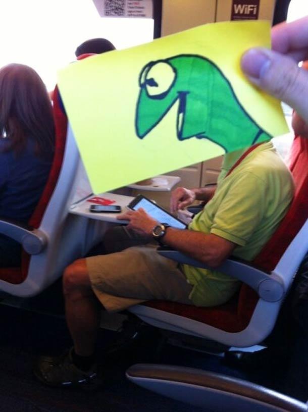 October Jones during a boring train journey