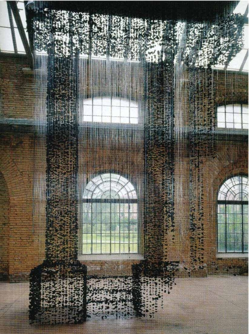 Seon Ghi Bahk Suspended Charcoal Installations 14