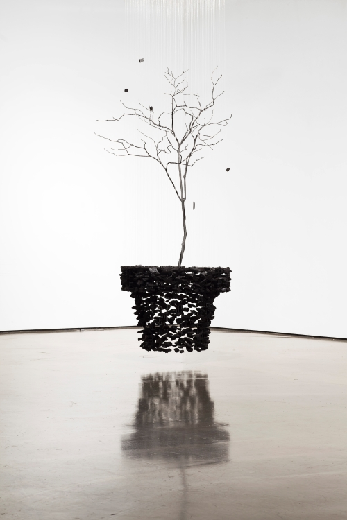 Seon Ghi Bahk Suspended Charcoal Installations 3
