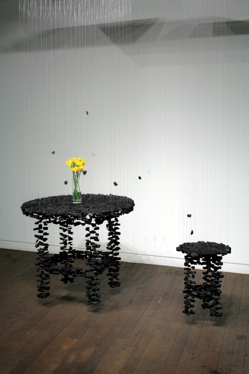 Seon Ghi Bahk Suspended Charcoal Installations 7