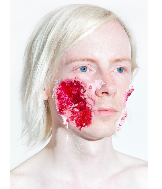 Ashkan Honarvar Grotesque facial injuries made ​​with candy and ice cream 3