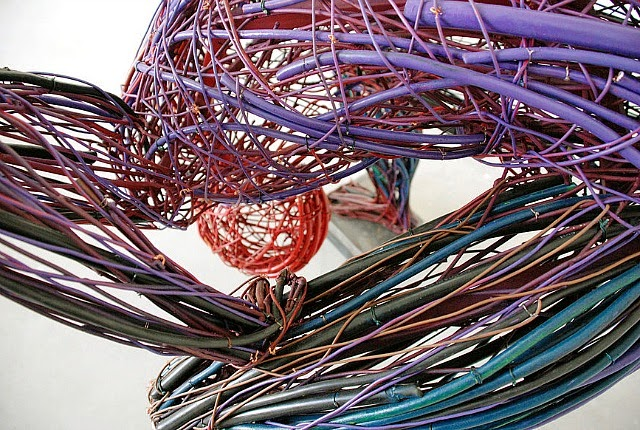 Judit Rabóczky human figures constructed from reused electrical cables 7