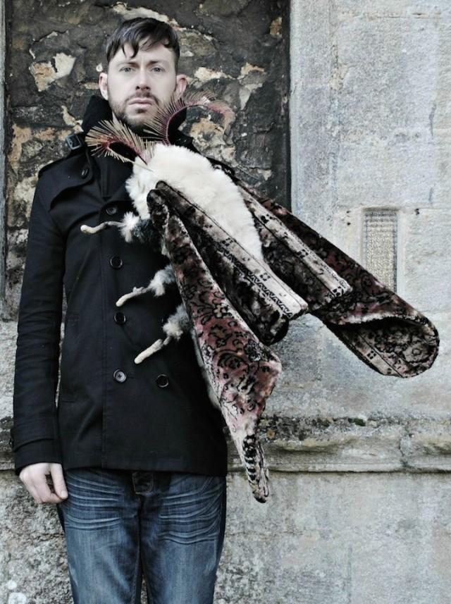 Mr Finch vintage textile art 12