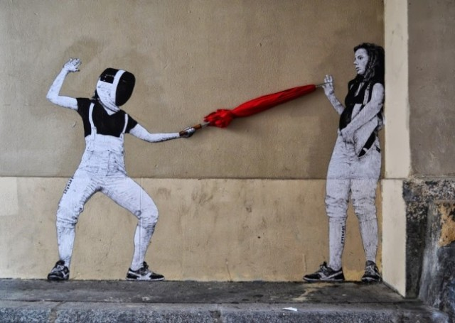 the urban theater Levalet 14