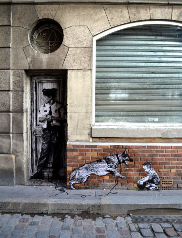 the urban theater Levalet 6