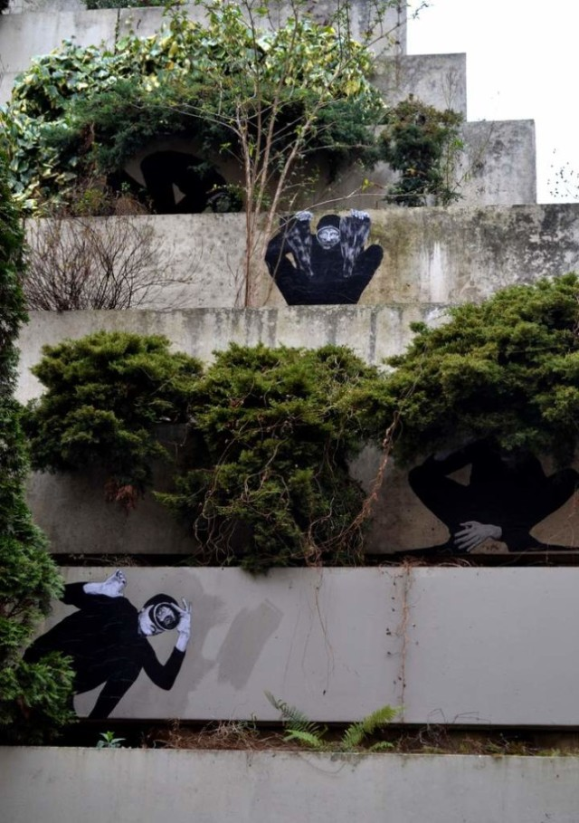 the urban theater Levalet 7