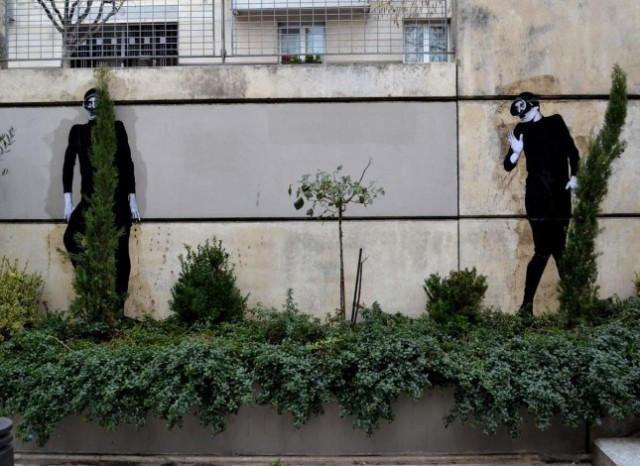 the urban theater Levalet 8