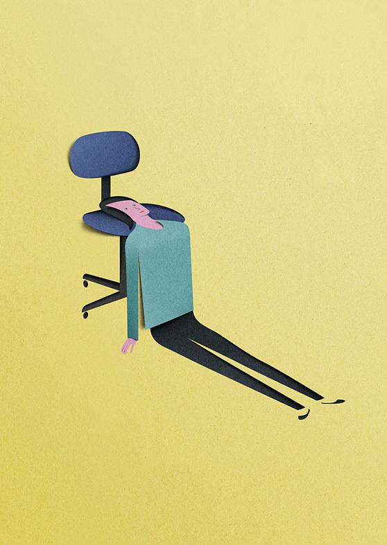 Eiko Ojala papercut illustrations 3