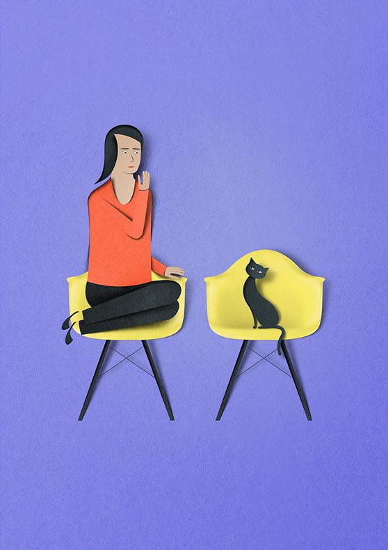 Eiko Ojala papercut illustrations 8