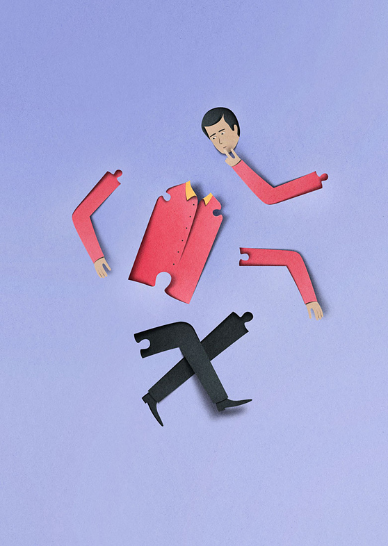 Eiko Ojala papercut illustrations 9