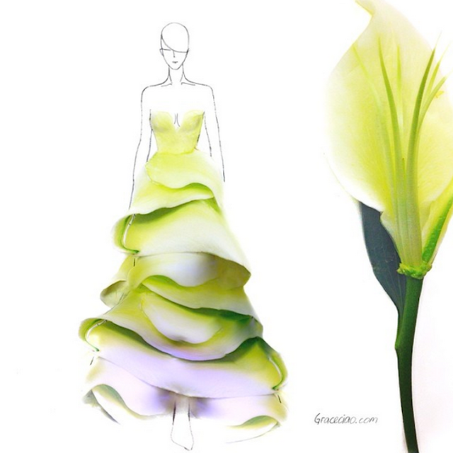 Fashion Illustrations Made Out of Flower Petals Grace Ciao 7