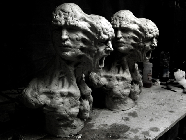Enrico Ferrarini disturbed sculptures