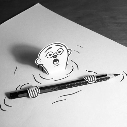 HuskMitNavn doodles illusions 7