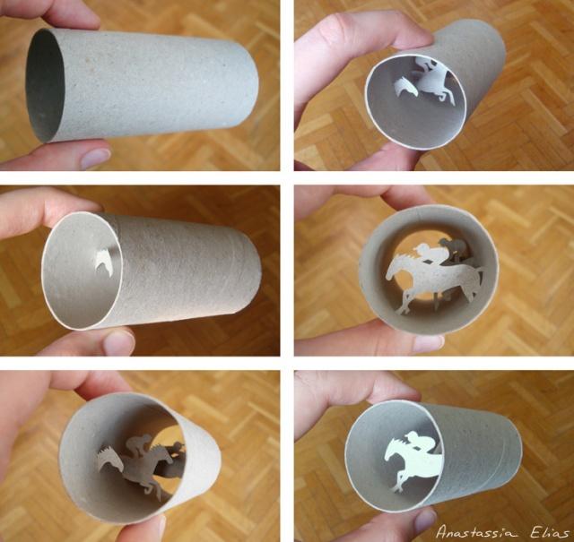 toilet paper roll art Anastassia Elias 14