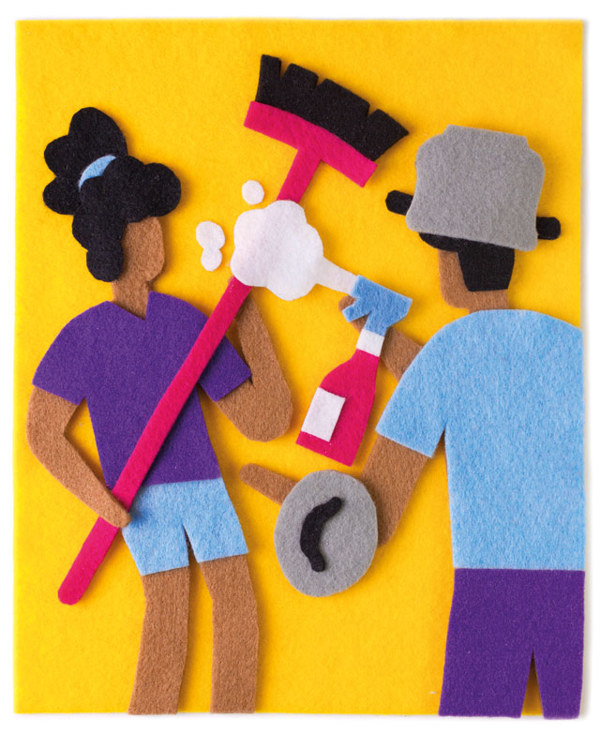 felt illustrations Jacopo Rosati 2