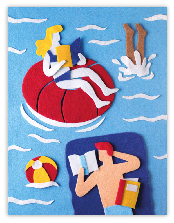felt illustrations Jacopo Rosati