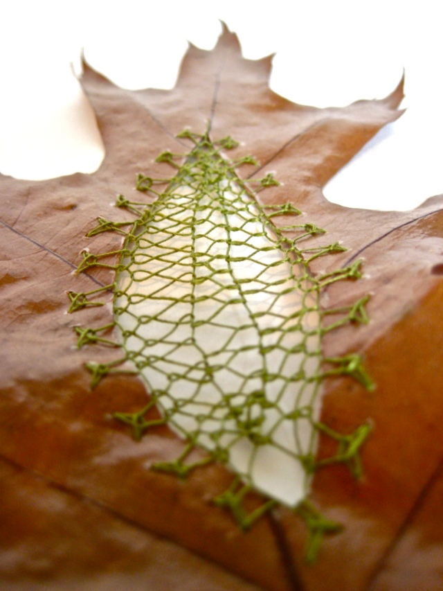 Hillary Fayle stitched leaves 10