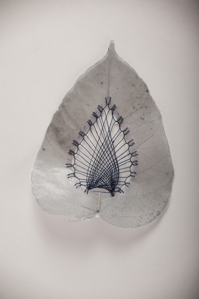 Hillary Fayle stitched leaves 3