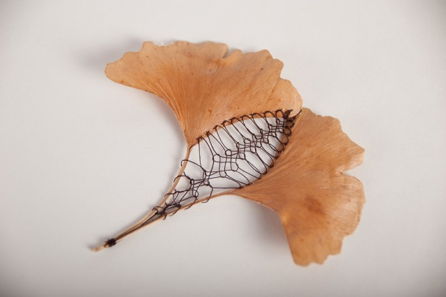 Hillary Fayle stitched leaves 4