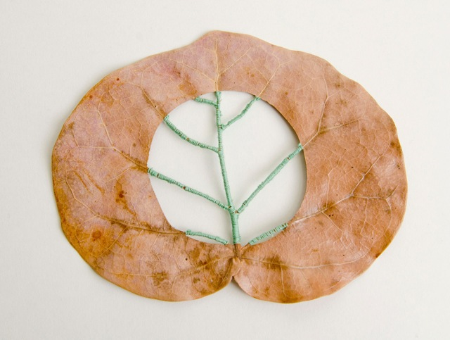 Hillary Fayle stitched leaves 7