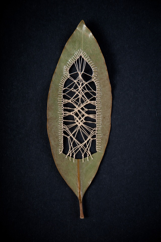 Hillary Fayle stitched leaves