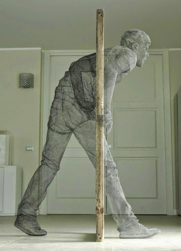 meticulous wire sculptures  edoardo tresoldi