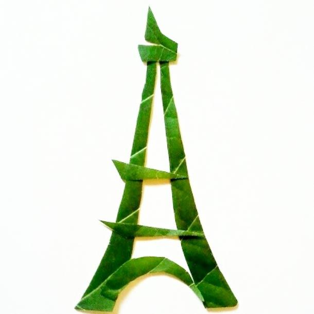 Roy Mallari GREEN ILLUSTRATIONS made of leafs 11