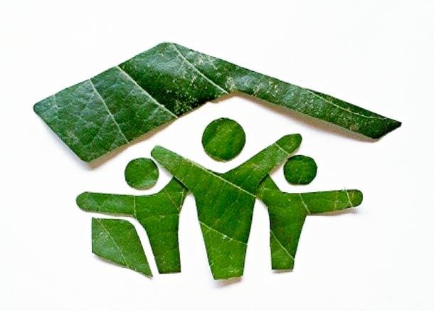 Roy Mallari GREEN ILLUSTRATIONS made of leafs 13