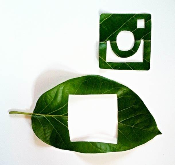 Roy Mallari GREEN ILLUSTRATIONS made of leafs 7