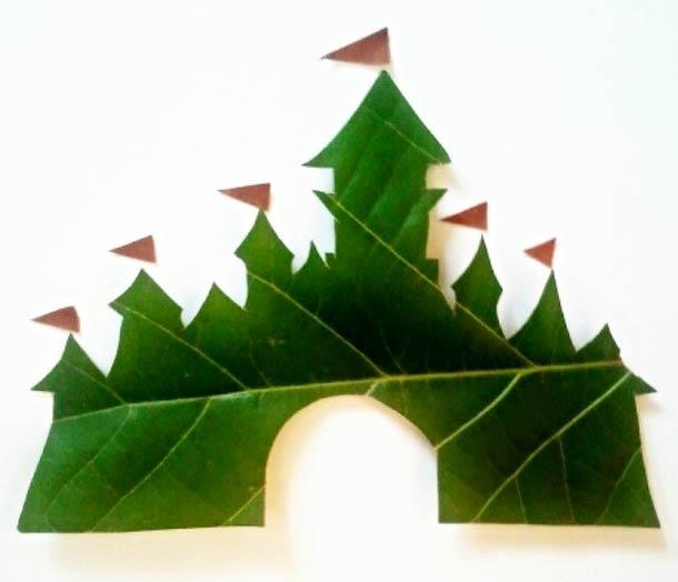 Roy Mallari GREEN ILLUSTRATIONS made of leafs 9