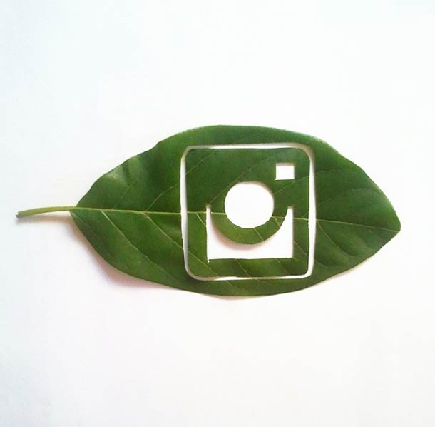 Roy Mallari GREEN ILLUSTRATIONS made of leafs
