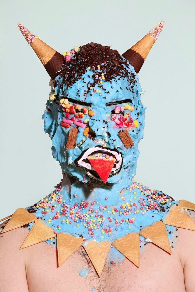 Grotesque Portraits made of Sweets and Junk Food 2