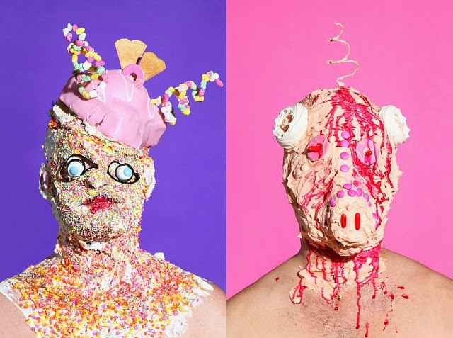 Grotesque Portraits made of Sweets and Junk Food 3