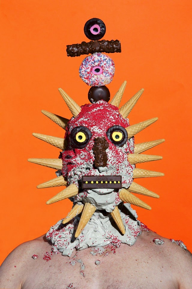 Grotesque Portraits made of Sweets and Junk Food 4