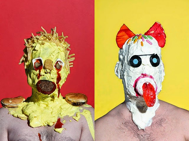 Grotesque Portraits made of Sweets and Junk Food 5