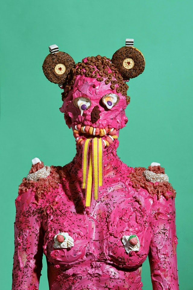 Grotesque Portraits made of Sweets and Junk Food 6